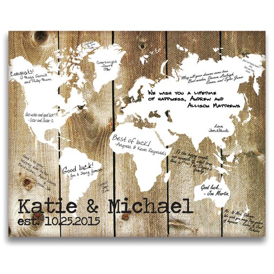 Our World Gallery Wrapped Canvas Guest Book
