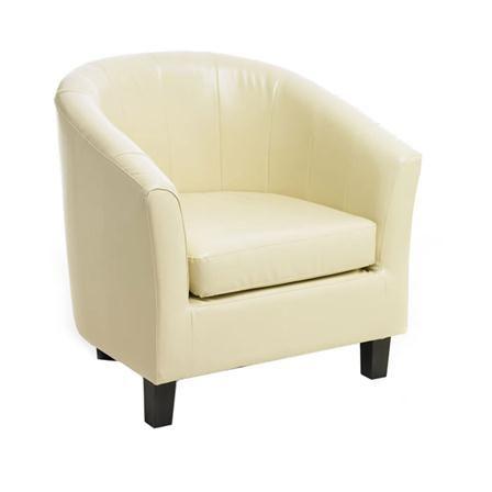 Sabichi Roberto Single Tub Chair, Cream