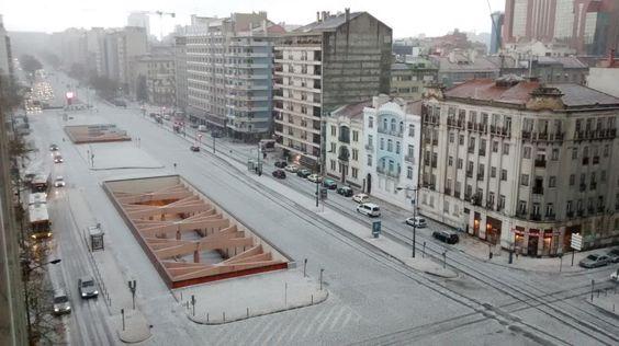 Lisboa coberta de branco - PÚBLICO