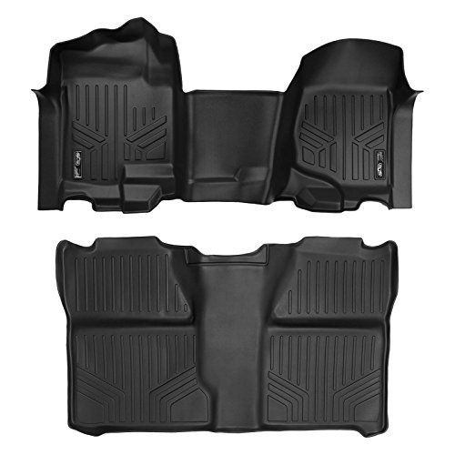 Maxliner Floor Mats 2 Row Liner Set Black For 2007 2013 Silverado