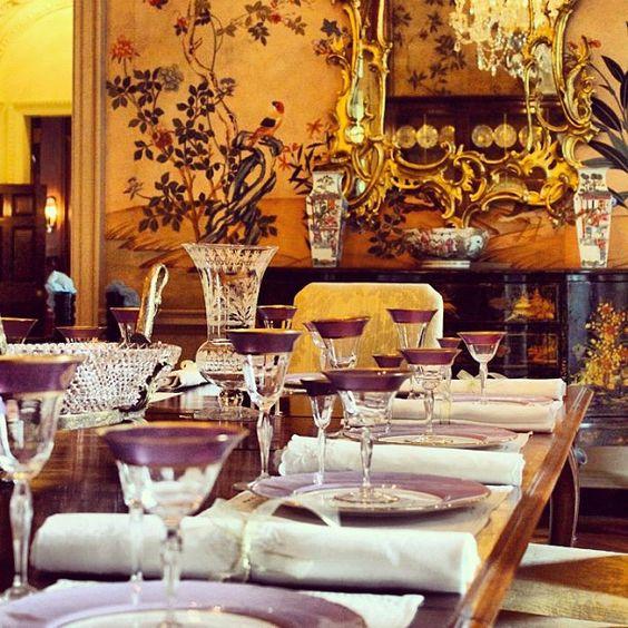 Dining room table at the ahc 39 s swan house by atlanta history center via flickr swan house - Dining room tables atlanta ...