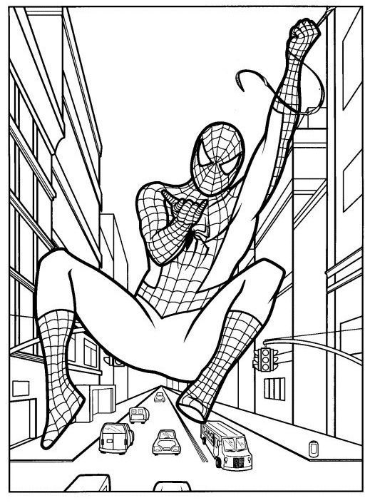 Spiderman On Jeudefille Coloring Page Spiderman On Jeudefille
