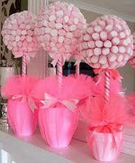 Decoração Flor de Marshmallow
