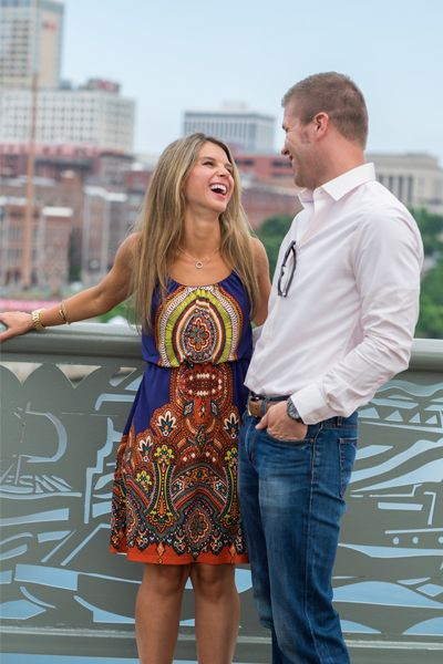 Surprise live proposal in downtown Nashville, TN shot by Jay Farrell Photography