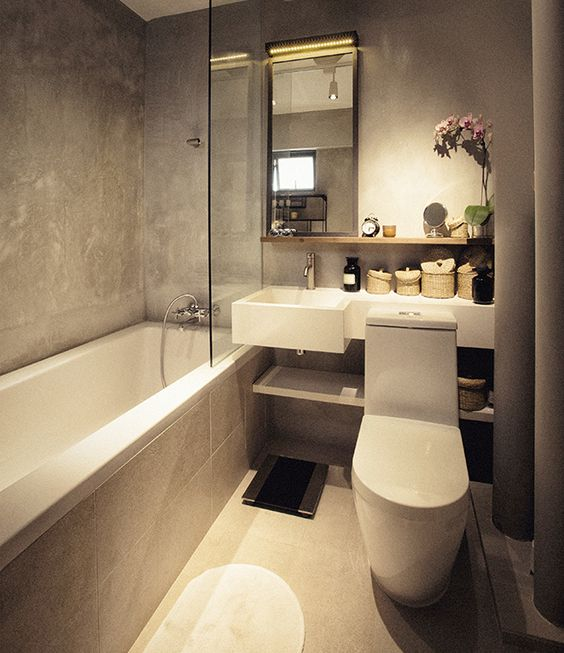Modern Kitchen Design 10 Simple Ideas For Every Indian Home: Toilets, Toilet Ideas And Concrete Wood On Pinterest