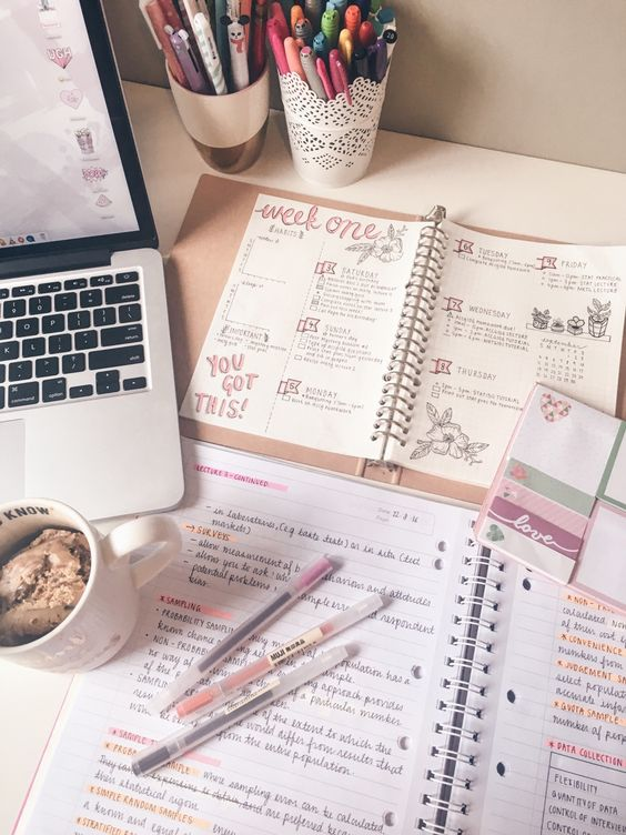 "the-girlygeek: "" 3.9.16 // Nibbling on some coffee ice cream while I catch up on my marketing notes. ✌️ I spent most of the morning working on my weekly spread, but I'm going out to run some errands soon. Hopefully i'll still be productive when I...:"