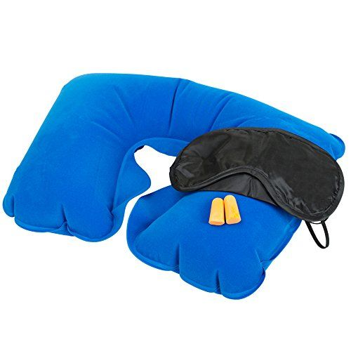 INFLATABLE TRAVEL PILLOW HEAD NECK REST