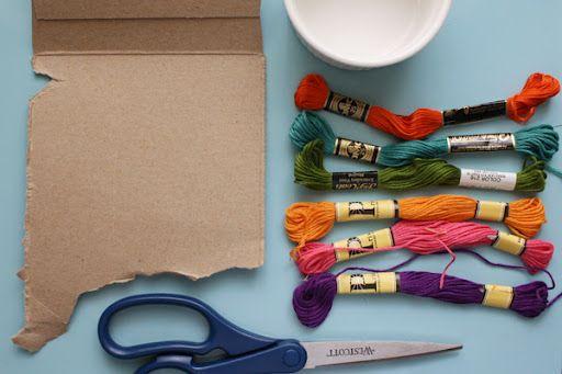 Embroidery floss bracelets!