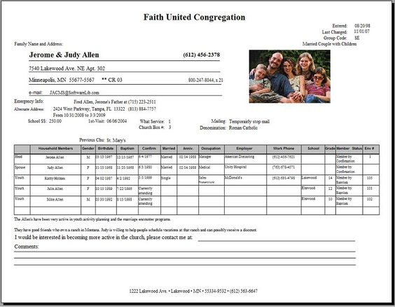 Church Membership Application Form Template Excel Templates - business expense form template free