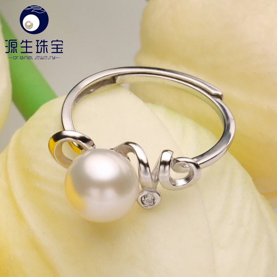 Aliexpress.com : Buy 925 Silver Jewelry Promotion Adjustable Ring 2016 New Fashion Natural White Freshwater Pearl Ring For Women Party YSETB013 from Reliable ring dc suppliers on pearls by yuansheng