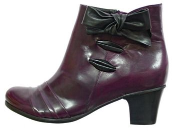 Valeria Grossi ankle boots #aubergine #bow | Shoes! | Pinterest ...
