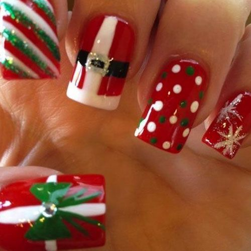 31 christmas nail art designs - click the picture to see them all!: