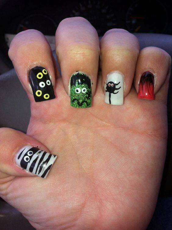 Fun Halloween Nails!!