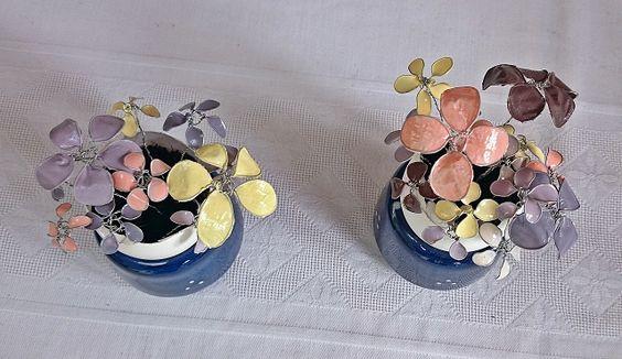 schöne Drahtblumen, DIY