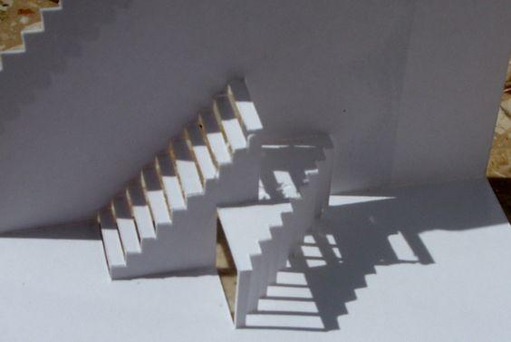 Papierarchitektur: Pop-Up- aus einem Stück Papier von *King Of Paper*- Papierkunst-Objekte aus einem Stück gearbeitet auf DaWanda.com