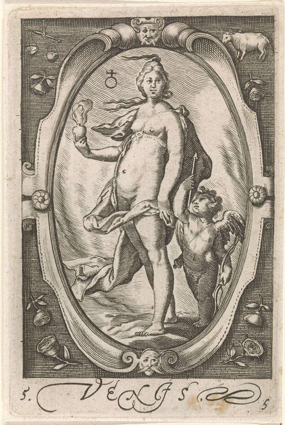 Venus, Jacob Matham, 1597: