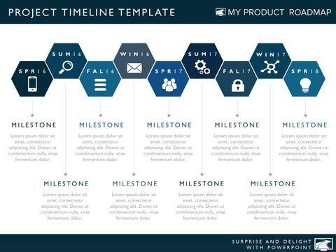 Twelve Phase Horizontal Timeline Graphic Timeline Design