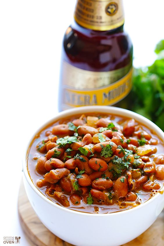 """Drunken Beans (Frijoles Borrachos)"" | @Ali Ebright (Gimme Some Oven) #recipe #mexican #glutenfree"