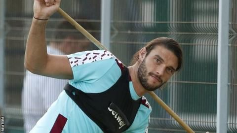 Andy Carroll: West Ham striker out for up to six weeks - BBC Sport
