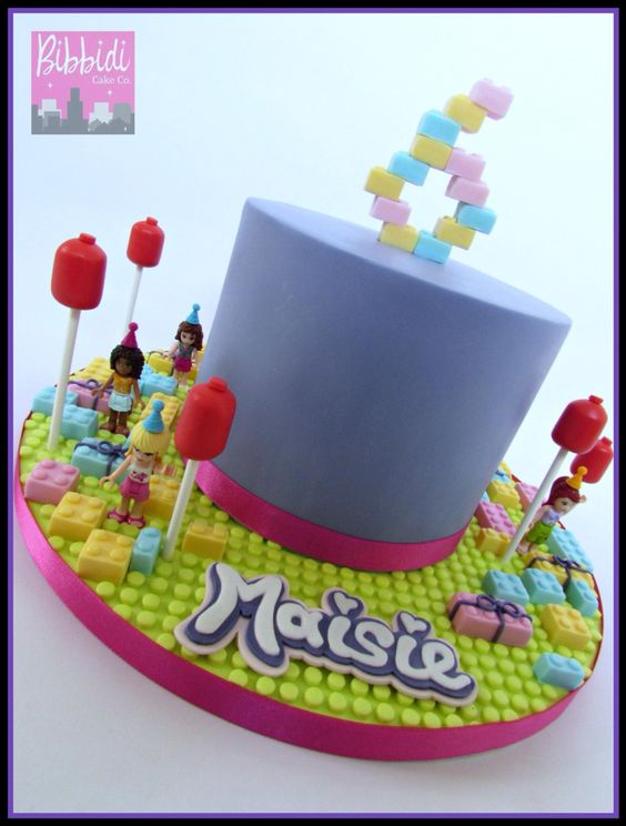 Lego friends cake by Bibbidi Cake Co
