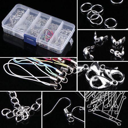 Jewelry Making Tools Kits Head Pins Chain Beads Handmade DIY Accessories w// Box