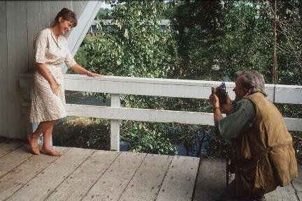 Still of Clint Eastwood and Meryl Streep in The Bridges of Madison County (1995)