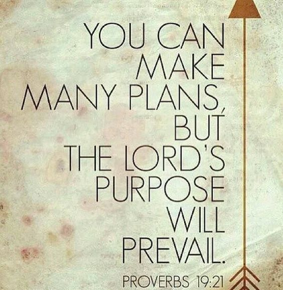 You may make plans but the lord