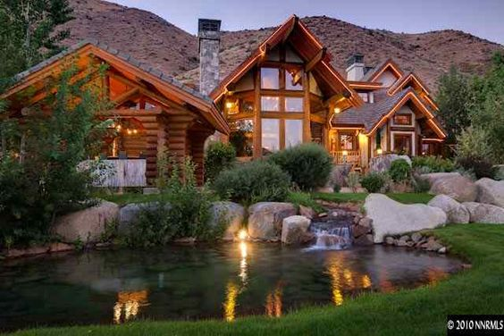 We Love This Luxury Log Home For Sale In Verdi Nv