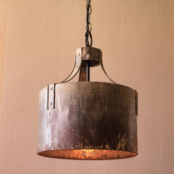 A beautiful piece of accent lighting. The Metal Drum Pendant Chandelier is…