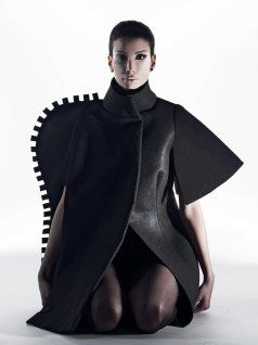 The silhouette cape by BLON.D.  Amazing construction... it's almost artwork