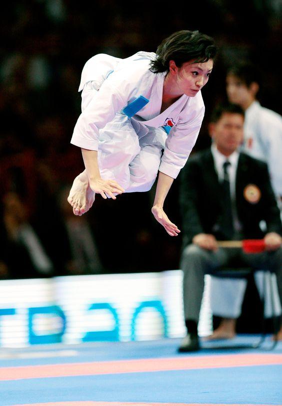 Rika Usami, Karate Gold Medal from Japan Kata UNSU I ... Karate Kid Kick Gif