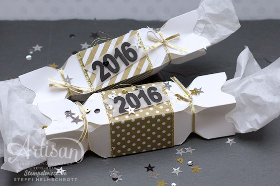 Artisan - Stampin' Up! - New Year's Eve Poppers Cracker - Knallbonbon - Silvester ❤︎ Stempelwiese