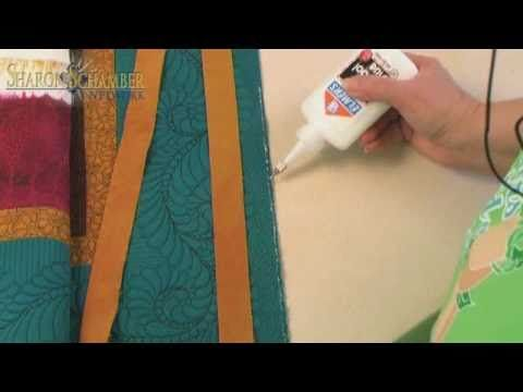 This really does create the most perfect binding ever!    Sharon Schamber's technique for perfect binding of straight edge quilts. The last few minutes are the best.