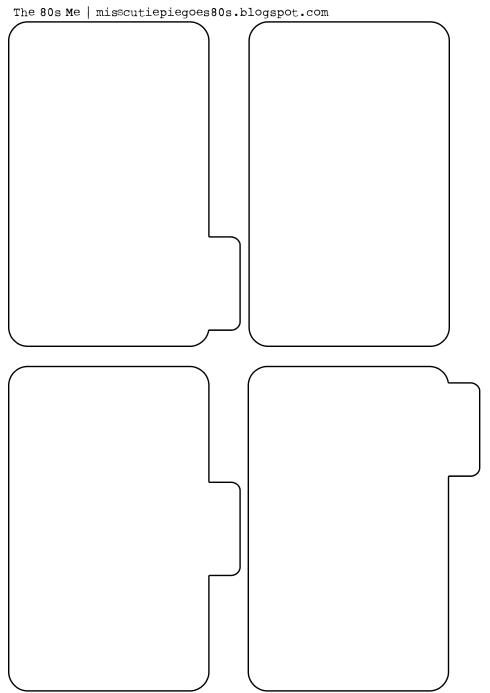 Free printable mini album pages this would be cute for a for Index card template for pages