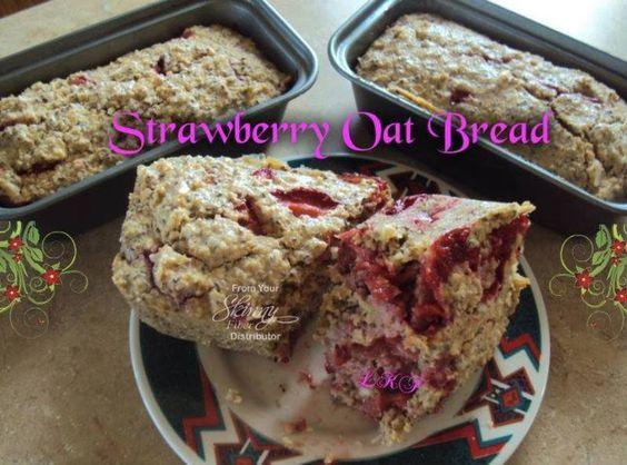 Strawberry Oat Bread by Marcine Jenis