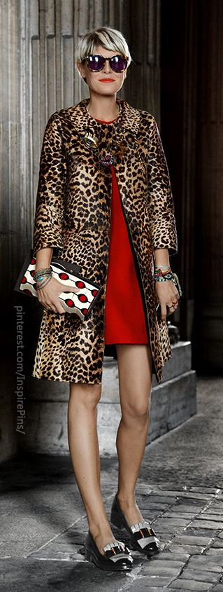 Leopard print jacket... also love the shoes! I love everything about this outfit