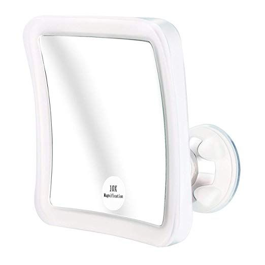 Elfina Lighted Magnifying Mirror 10 X Magnification Makeup Magnified Mirror With Lights Bathro Mirror With Lights Makeup Mirror With Lights Magnifying Mirror