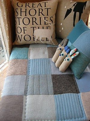LOVE the patchwork blanket: