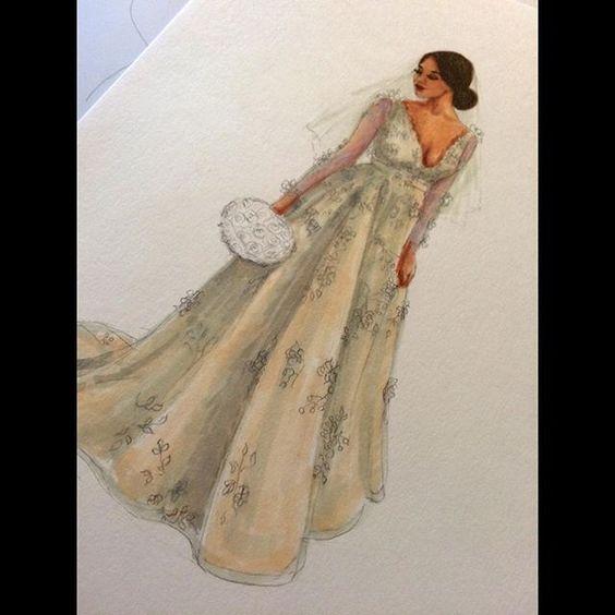 Work in progress #wip #fashionillustration #bridalillustration #fashionsketch #lookillustrated
