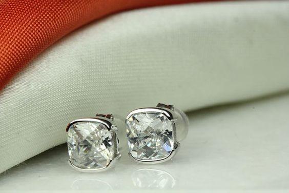 White Topaz Stud Earrings Mothers Day Earrings by KimberlyHahn, $110.00