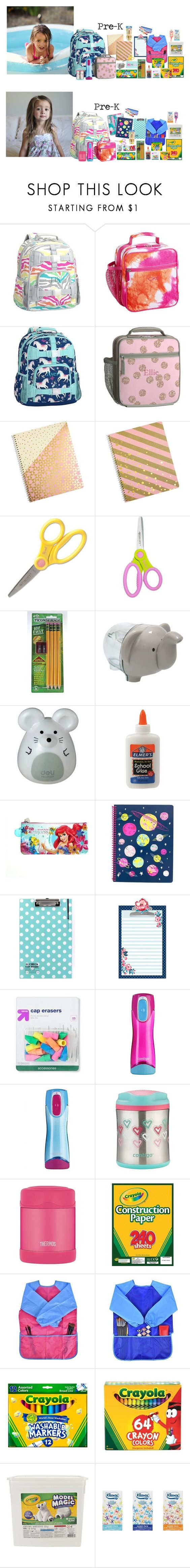 """""""Brooklyn & Britton's Backpacks"""" by my-creative-mess ❤ liked on Polyvore featuring Gymboree, Disney, Contigo, Ignite, Thermos and Crayola"""