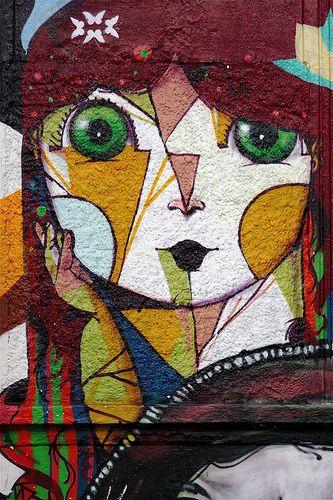 Street art | Mural detail (Liberdade, São Paulo, Brazil, 2008) by Ricardo AKN