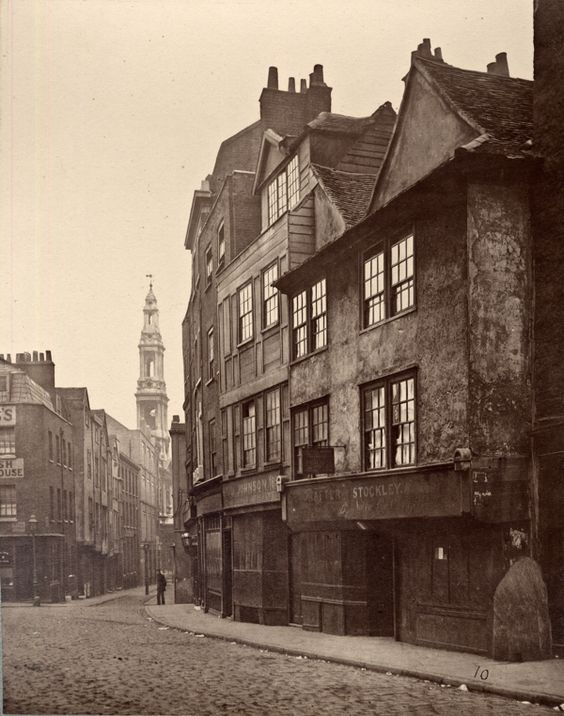 Drury Lane, 1876. Yes, the one the Muffin Man lives on.