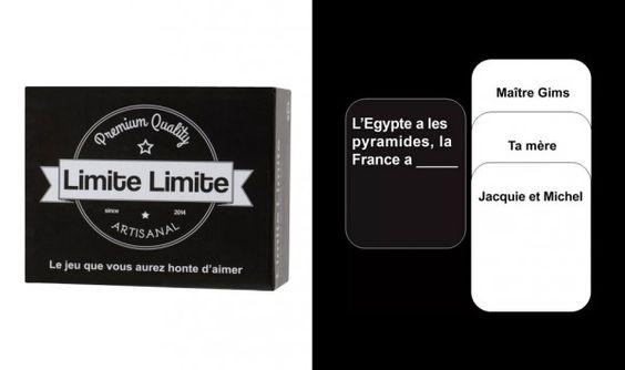 Un jeu « Limite Limite », l'adaptation française de « Cards Against Humanity » Prix : à partir de 28€ chez Amazon
