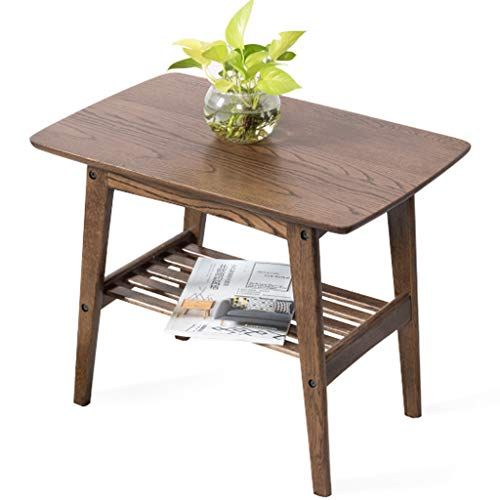Side Table Wooden 2 Tier Corner Table End Table Modern Sofa Side