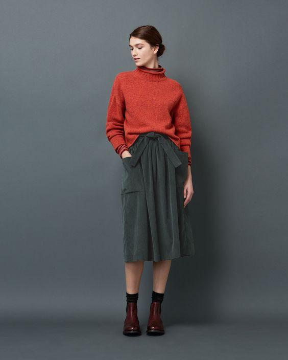 TOAST | Soft, heathery pullover in Italian-spun, mid gauge merino wool.