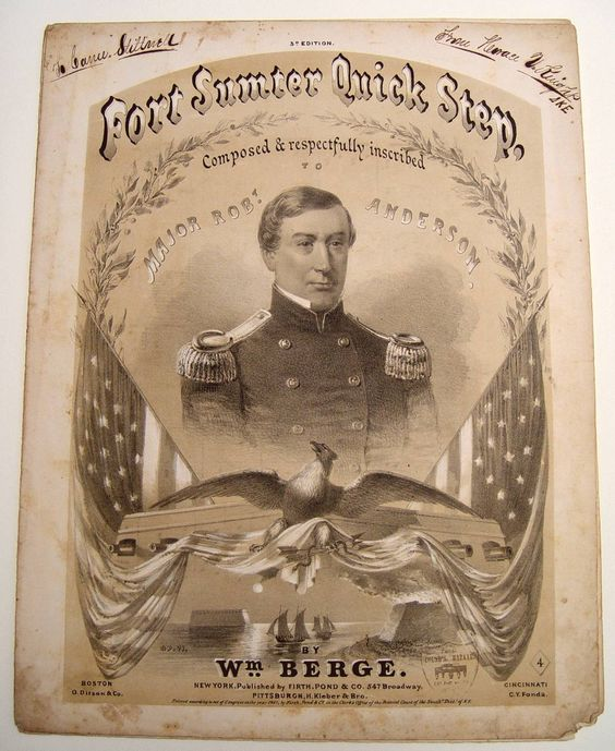 Dance to the Sound of the Guns! Fort Sumter in Sheet Music  $250