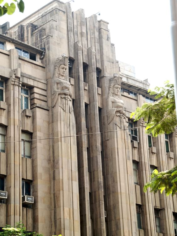 the new india assurance building is an art deco office building made of reinforced concrete and art deco office building