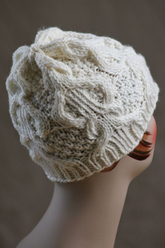 Knitting Patterns For Chunky Weight Yarn : Five Pillars Hat: made with size 7 & 9 needles and less than 150 yards of...
