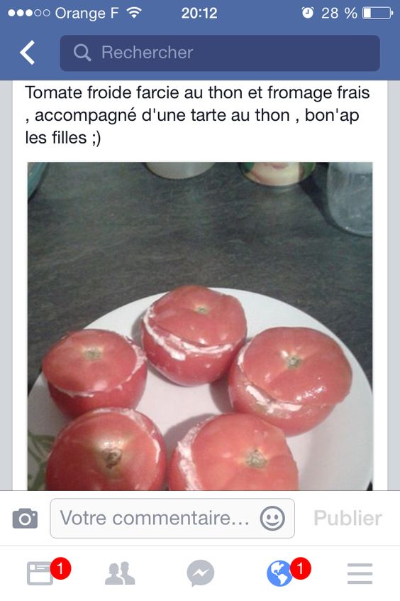 Entrée tomate farcie froide